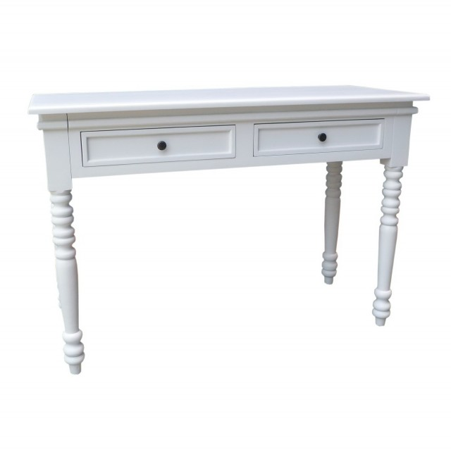 White Antique Console Table