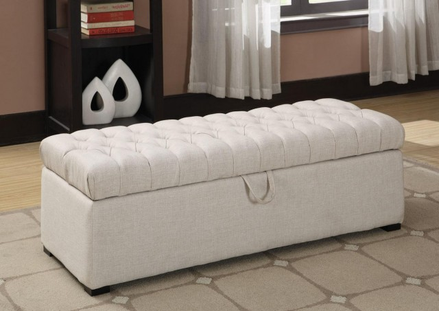 White Bedroom Storage Bench