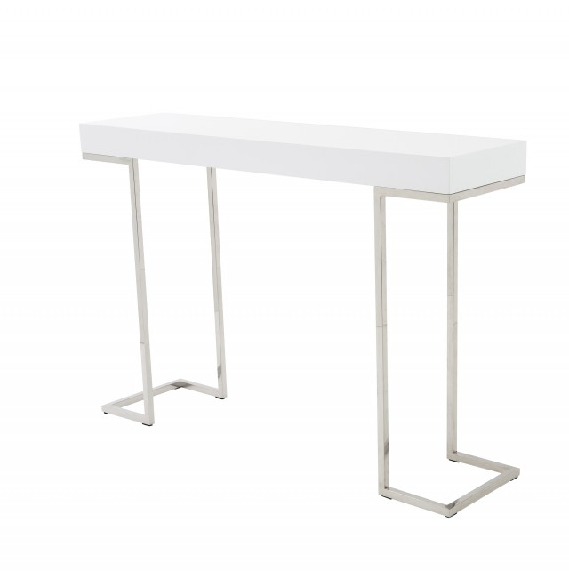 White Contemporary Console Table