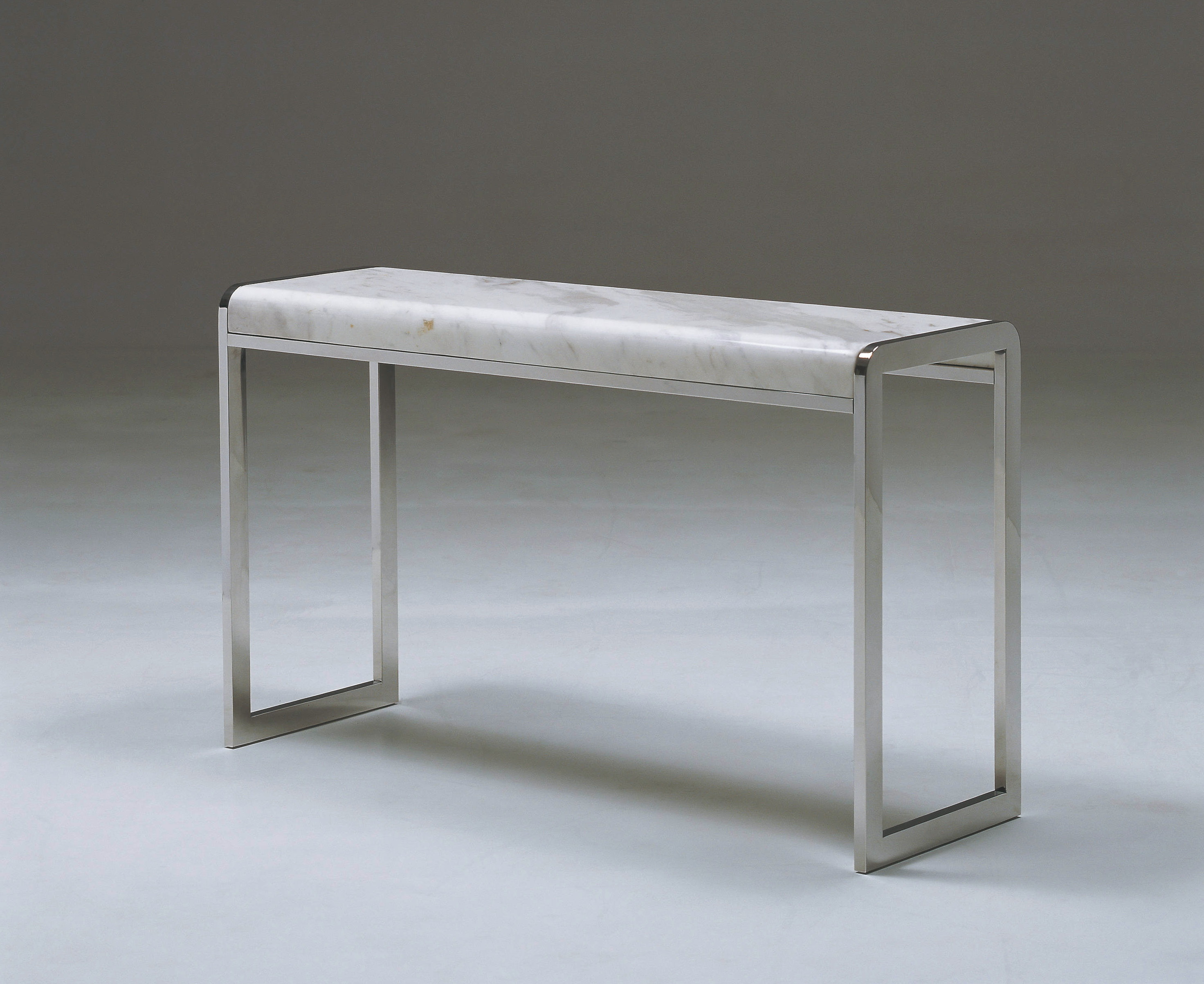 White Marble Top Console Table