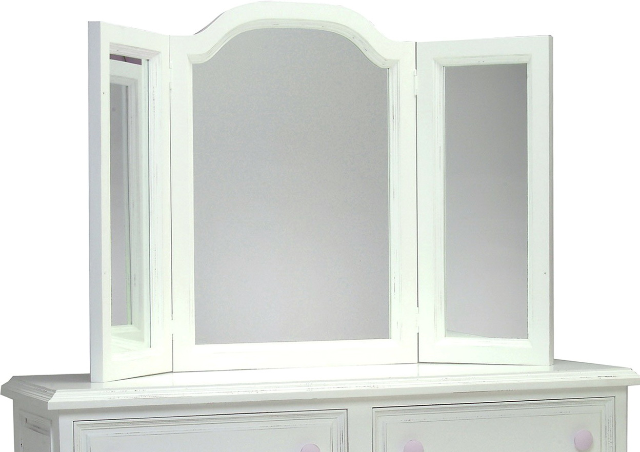 White Tri Fold Vanity Mirror Home Design Ideas