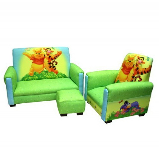 Winnie The Pooh Chair And Ottoman Set
