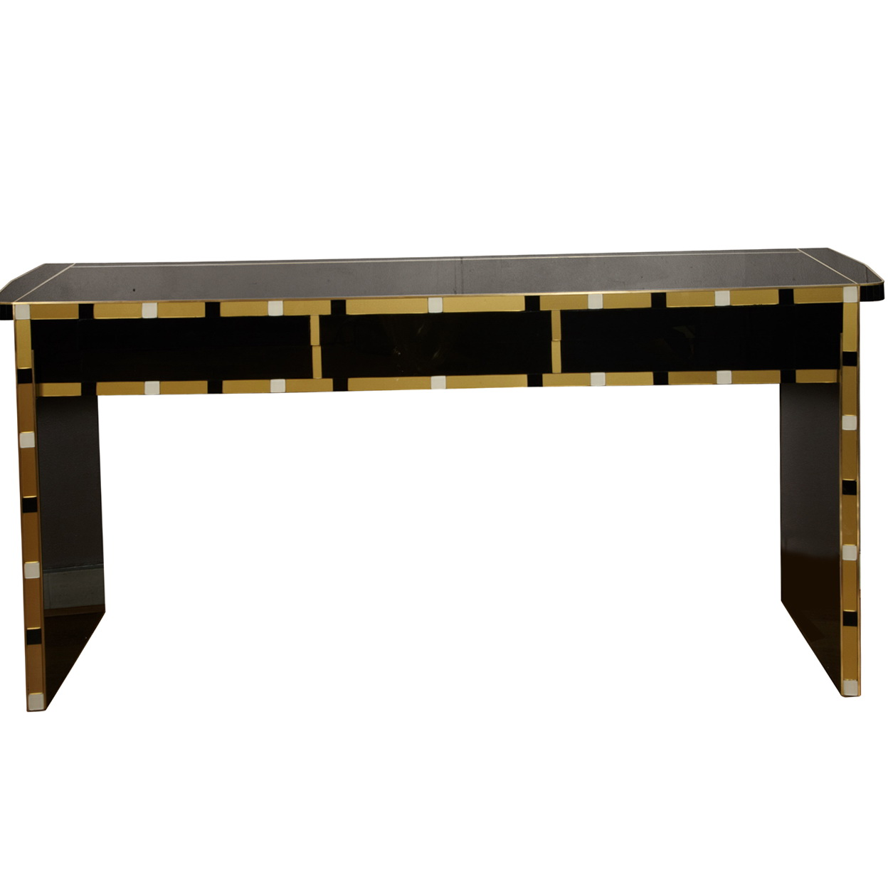 Wood Console Table Mirror