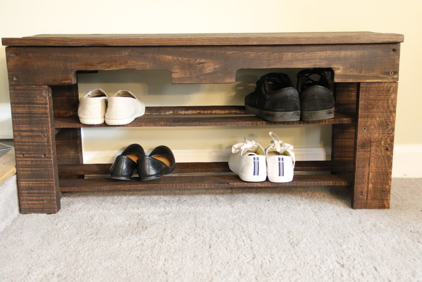 Wood Shoe Rack Bench Home Design Ideas