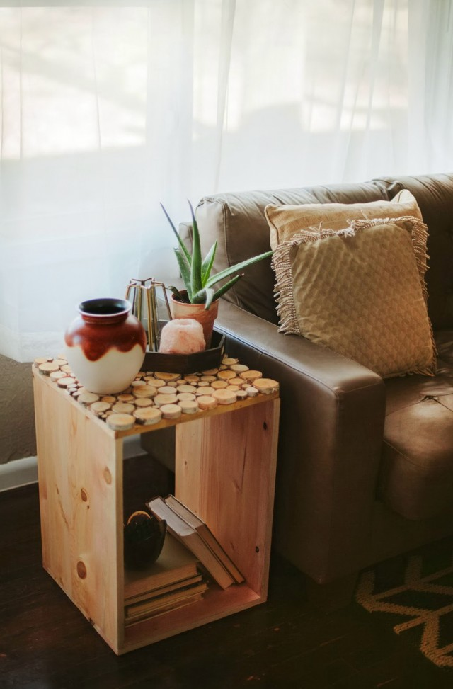 Wood Side Table Diy