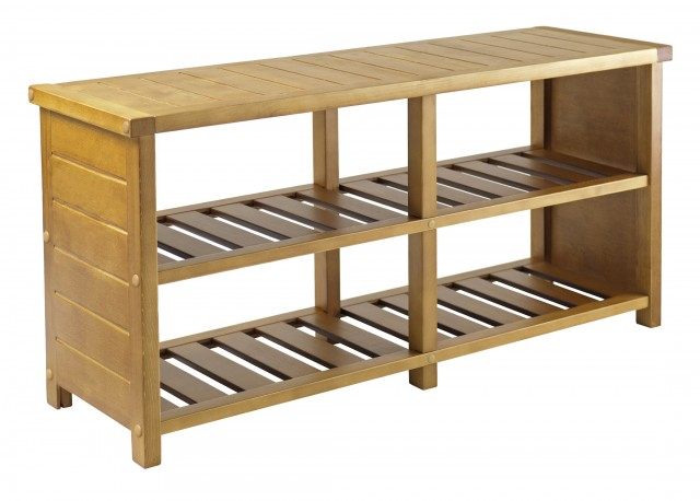 Wooden Shoe Rack Bench