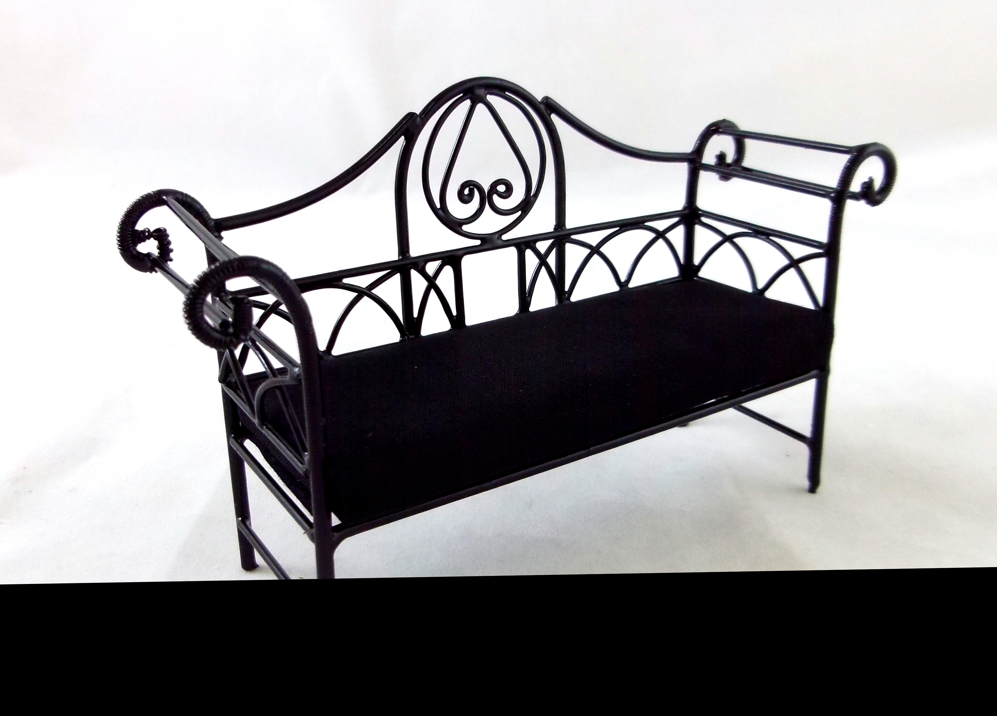 Wrought Iron Bench With Cushion Home Design Ideas
