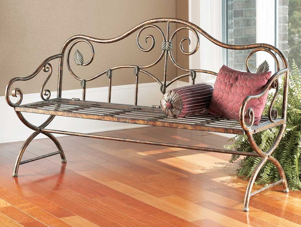 forged l iron bench egypt benches decor sofa lounge rod chaise wrought hand awesome