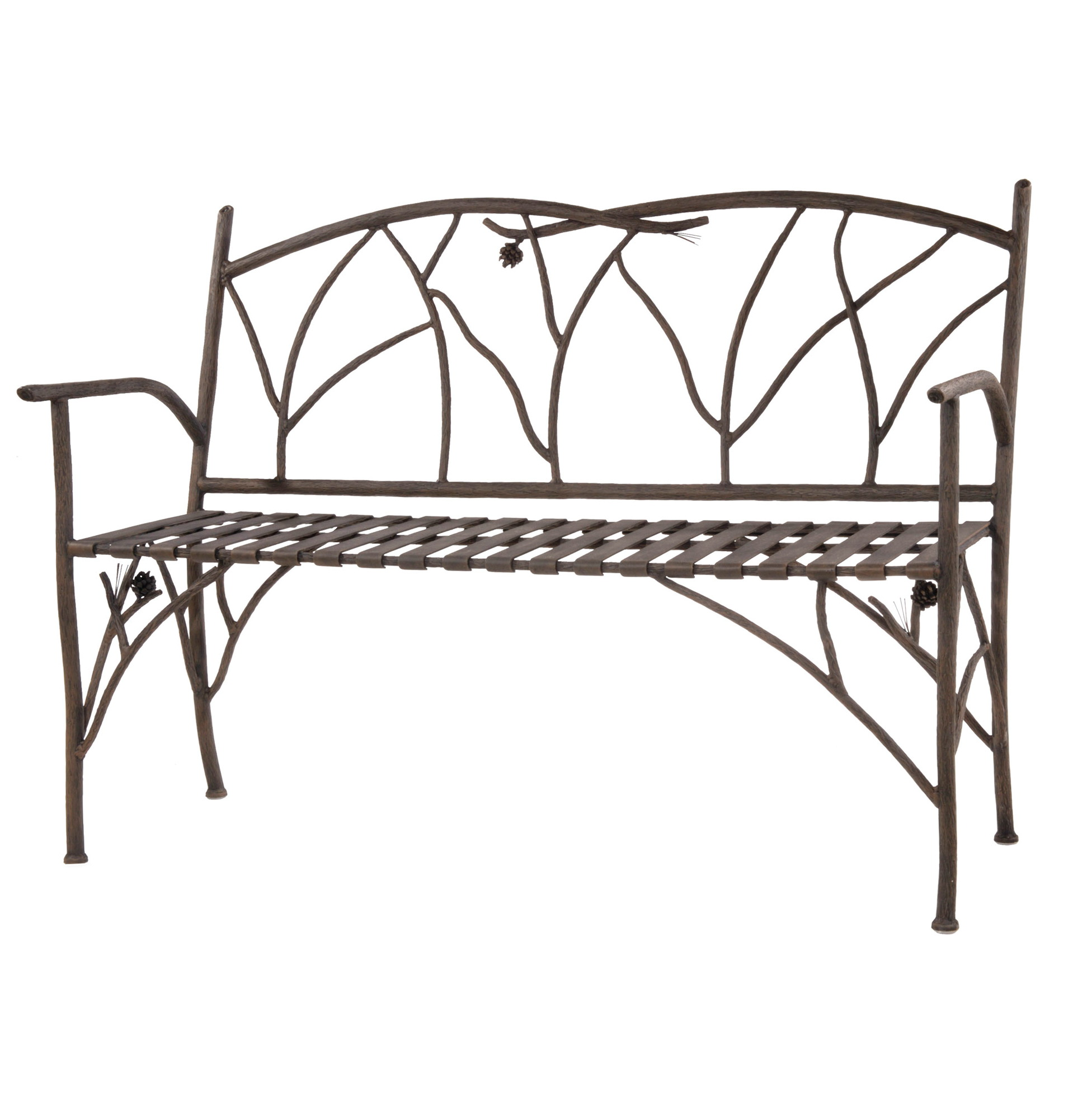 Wrought Iron Benches Outdoor Home Design Ideas