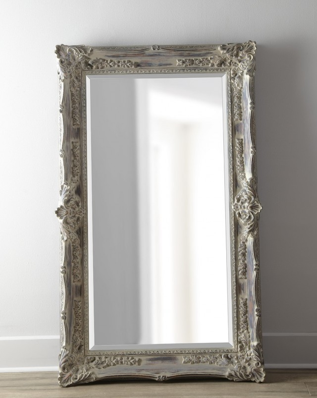 Antique French Floor Mirror