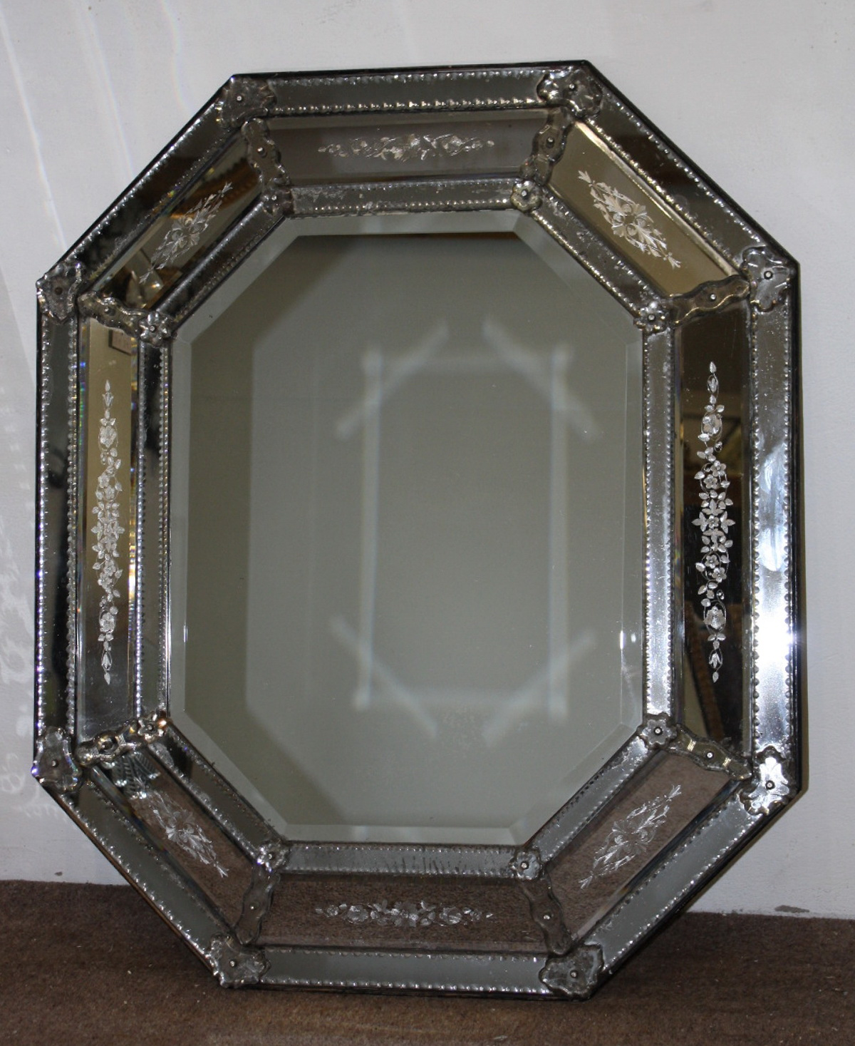 Antique Mercury Glass Mirror