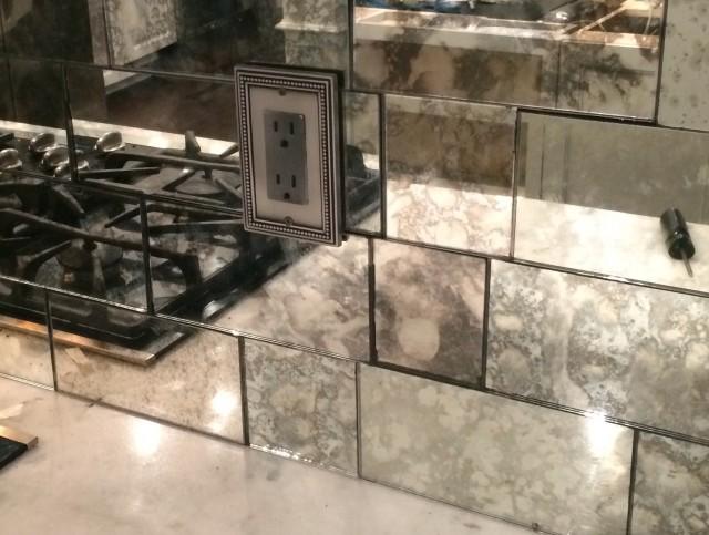 Antique Mirror Glass Tiles