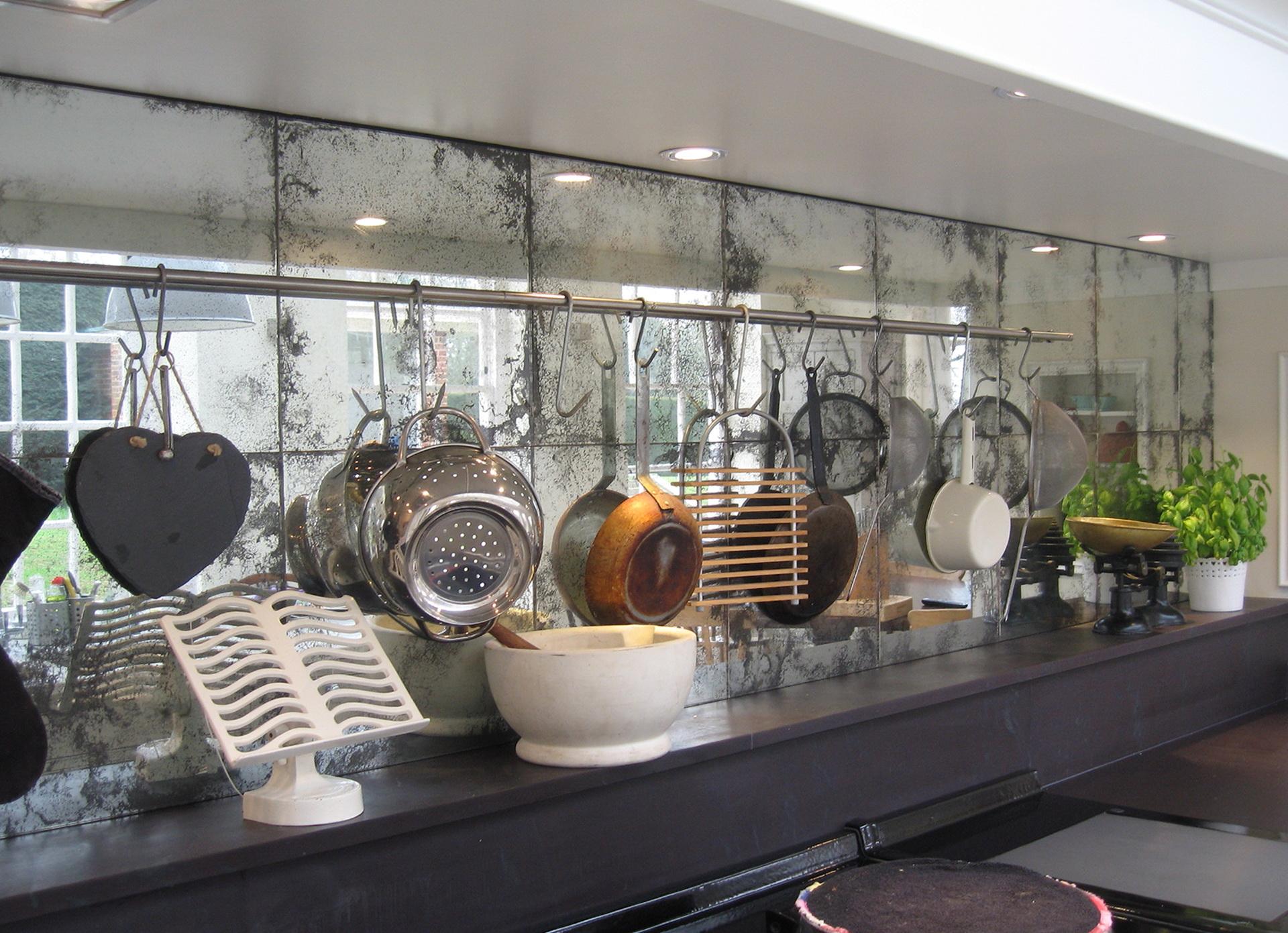 Antique Mirror Tiles For Backsplash