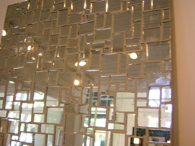 Antique Mirror Tiles Wall