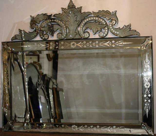 Antique Venetian Glass Mirror