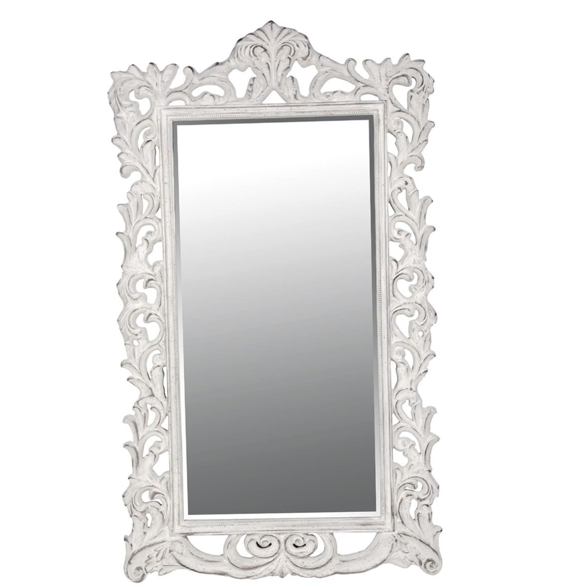 Antique white length mirror home 28 images large for White floor length mirror