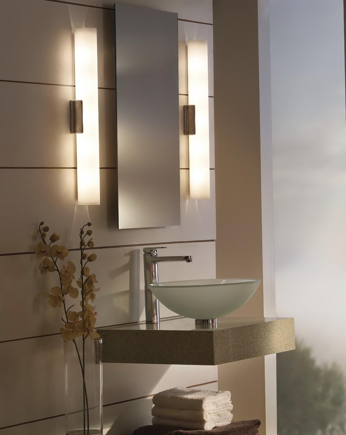 Bathroom Mirror With Lights Around It Home Design Ideas
