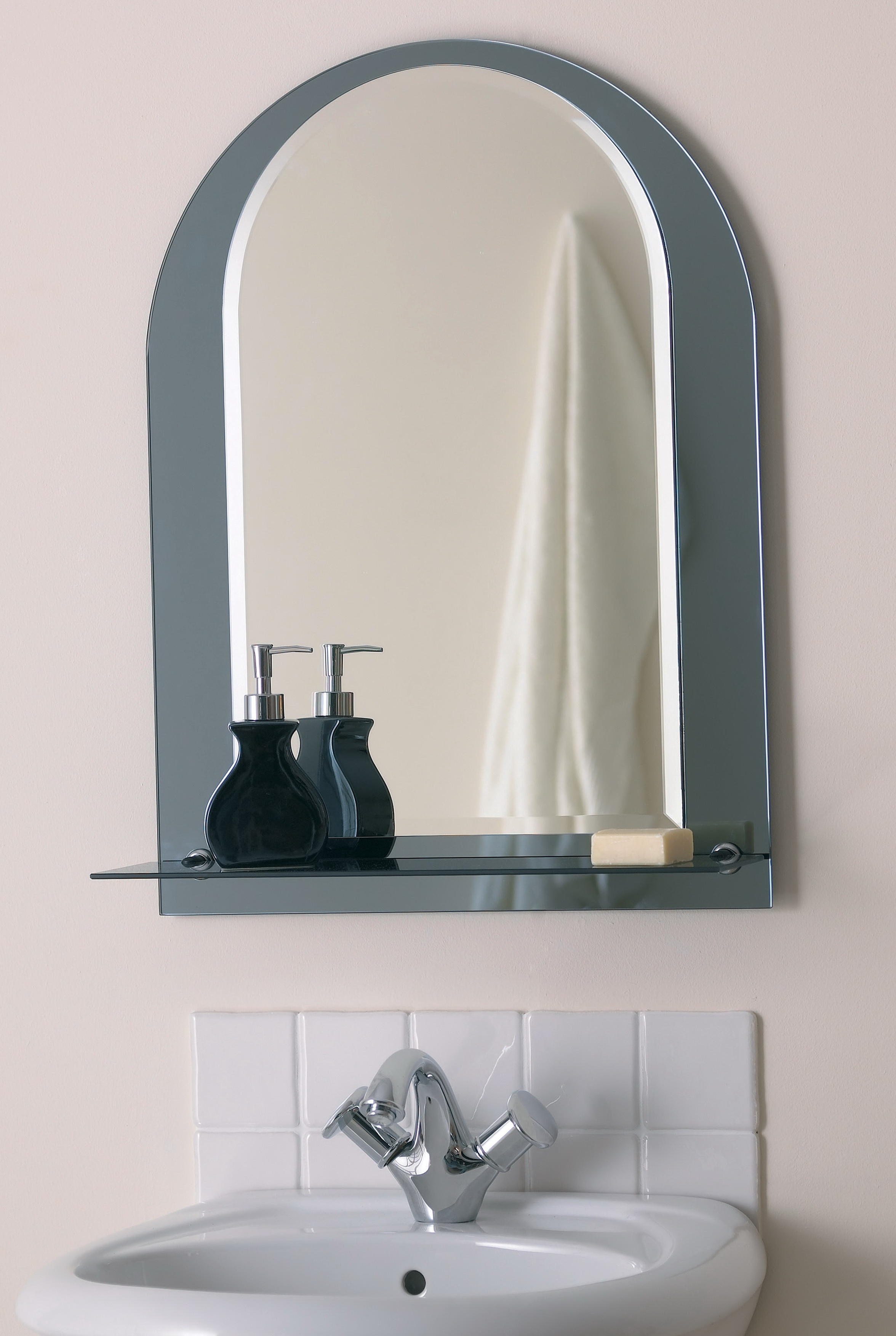 Bathroom Mirror With Shelf Attached Home Design Ideas