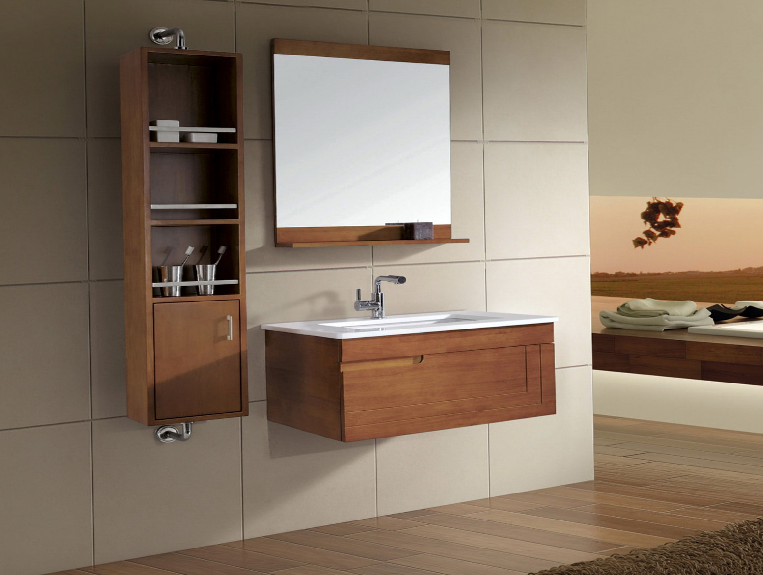 Bathroom Vanity Mirror With Storage Home Design Ideas