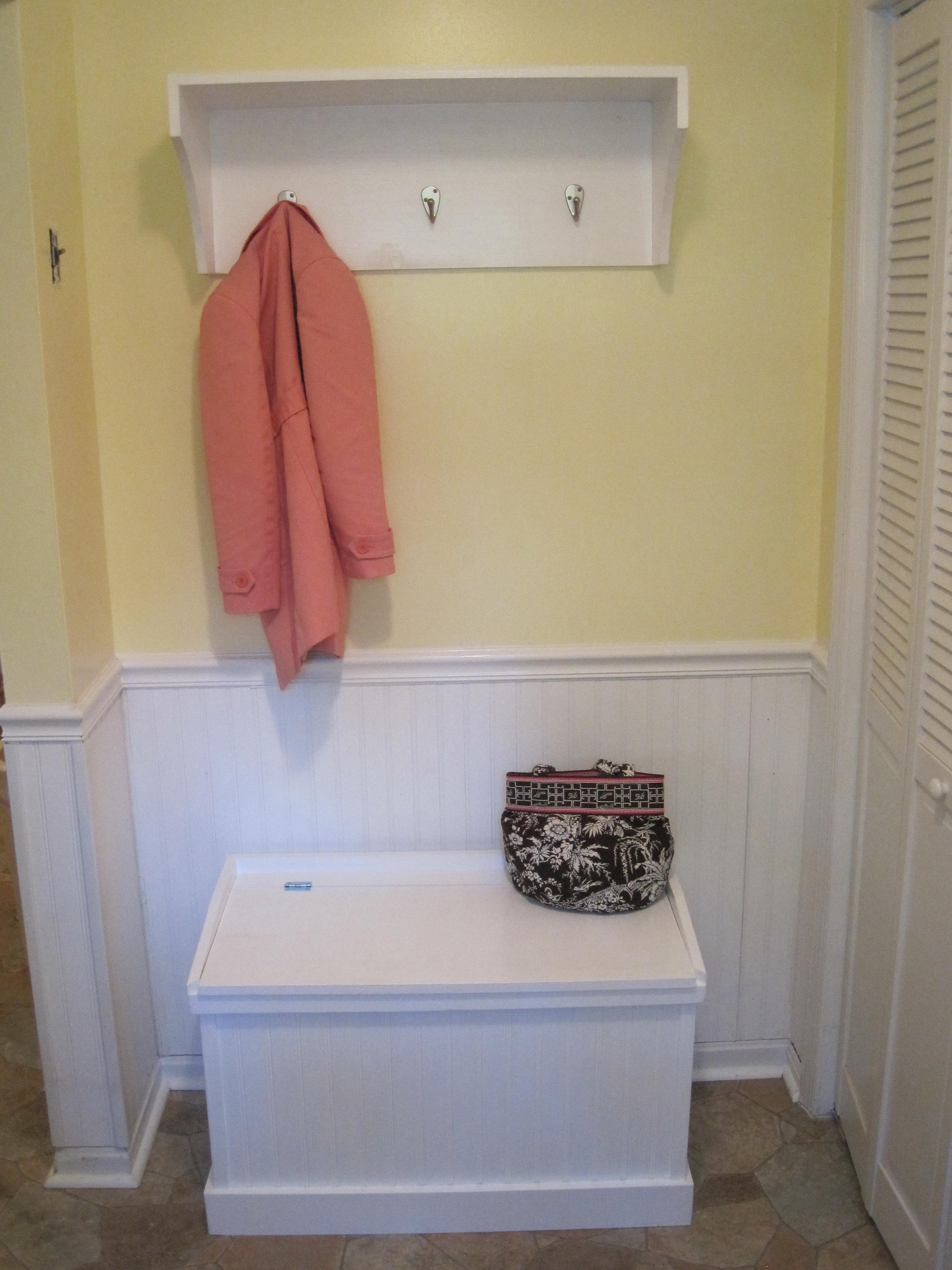 Bench Coat Rack Combo Home Design Ideas