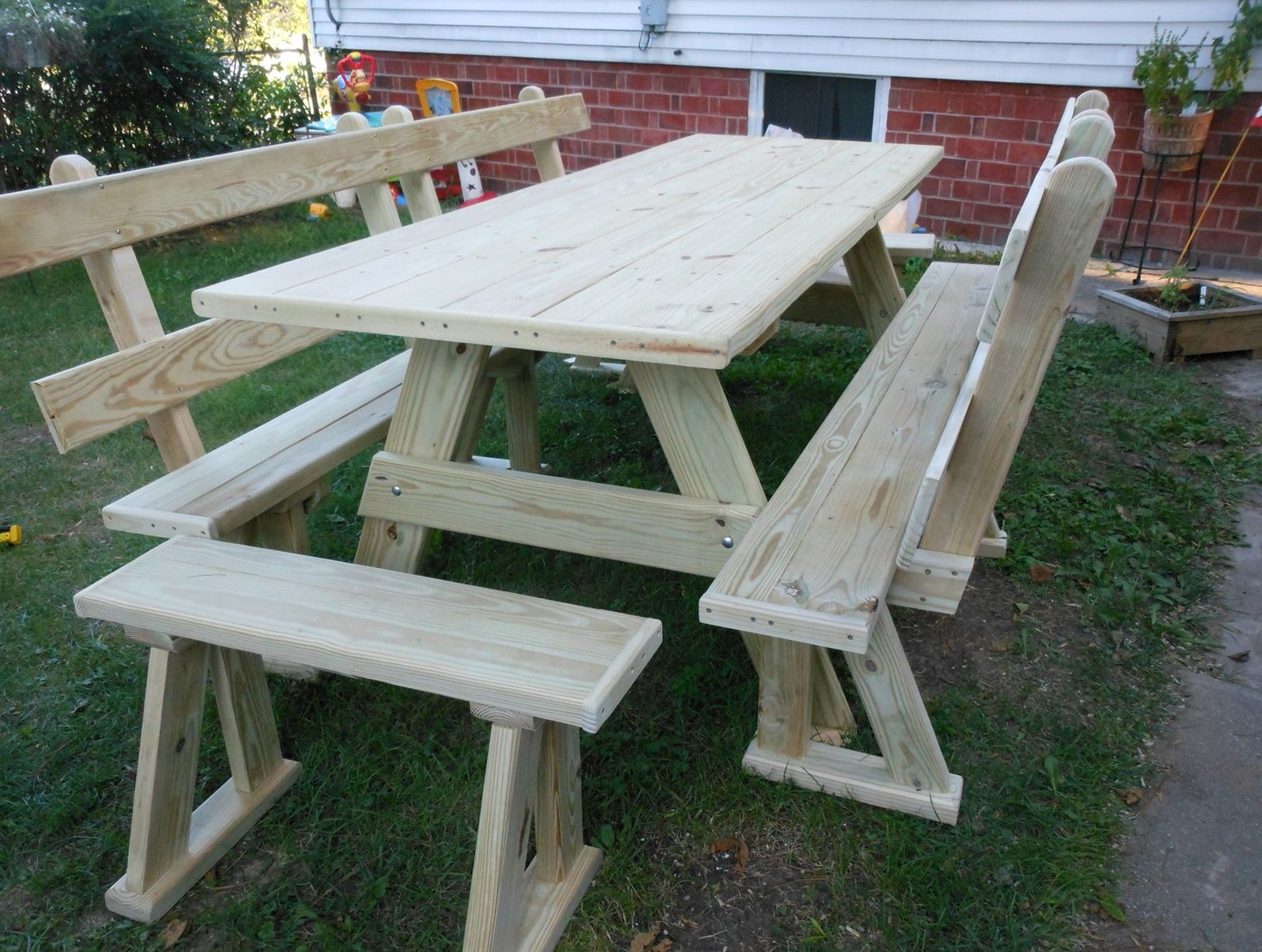 Bench Picnic Table Combo Plans Home Design Ideas