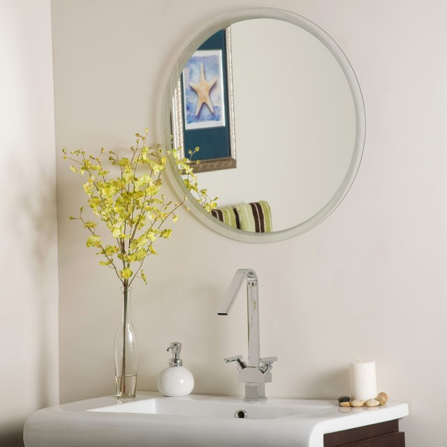 Beveled Bathroom Mirrors Frameless