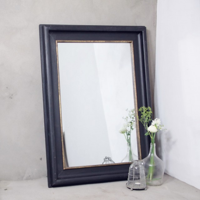 Black Framed Mirror Large