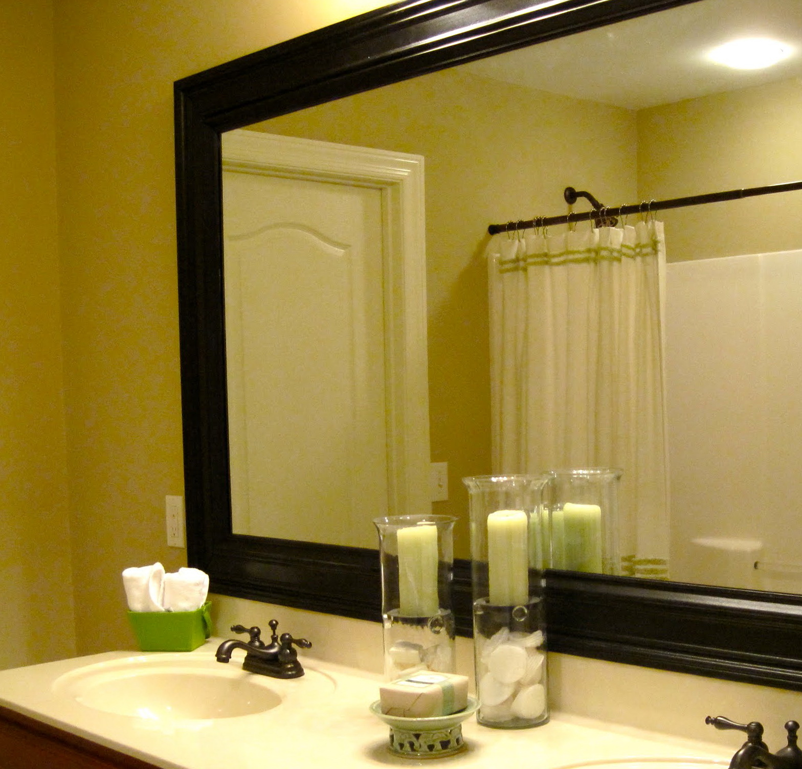 Black Framed Mirrors For Bathroom Home Design Ideas