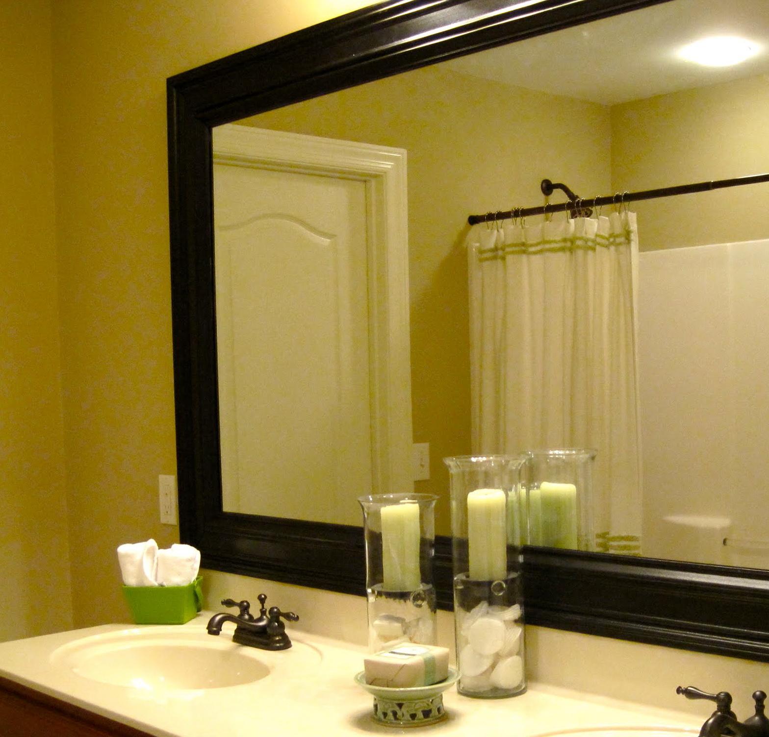 Black Framed Mirrors For Bathroom Home Design Ideas