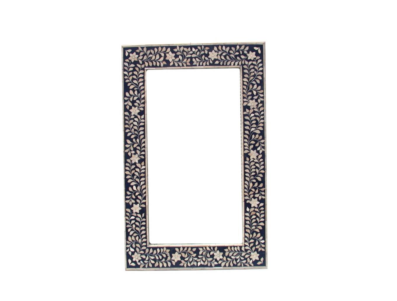 Bone Inlay Mirror Black