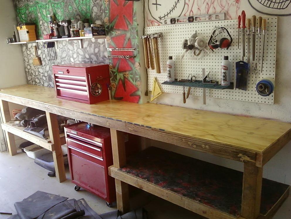 Build Garage Work Bench Home Design Ideas
