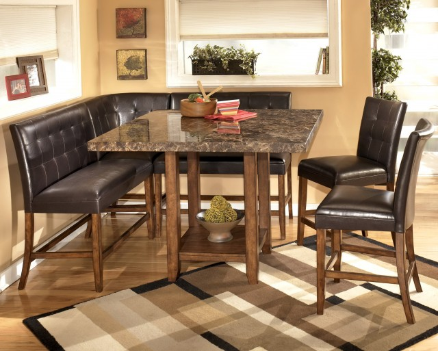 Corner Bench Dining Table Set