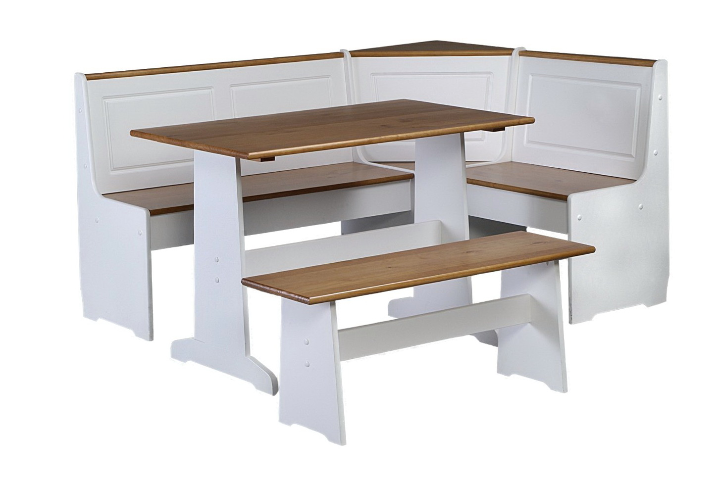 Corner bench kitchen table set home design ideas for Table and bench set