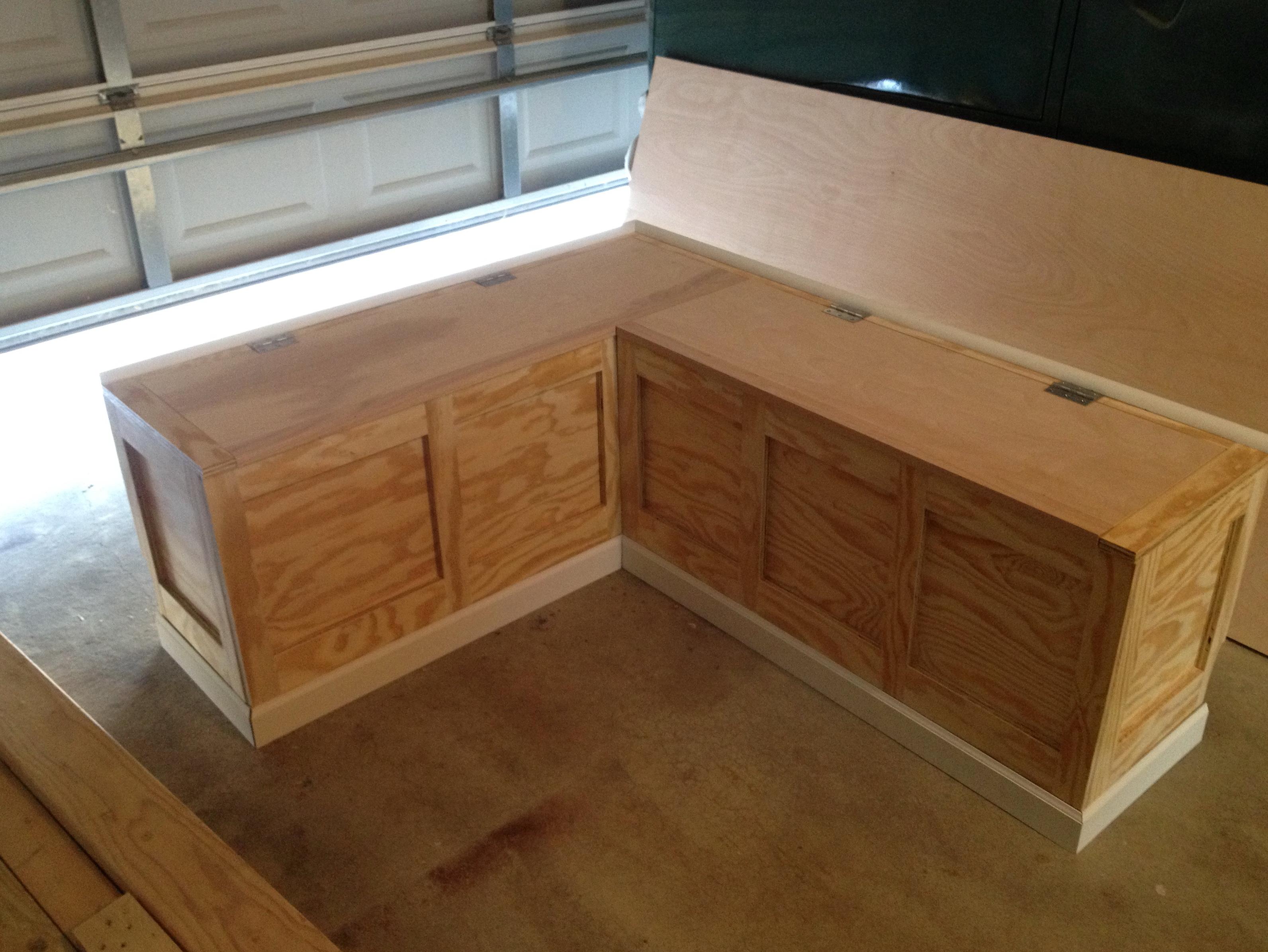 Corner Bench With Storage Plans Home Design Ideas