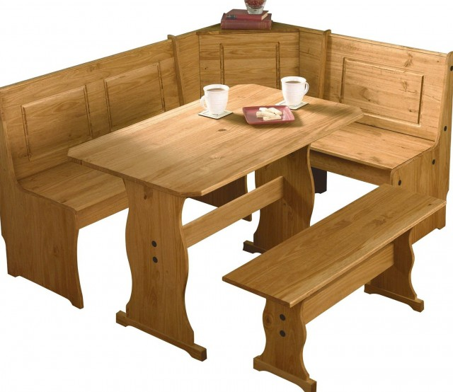 Corner Dining Bench And Table