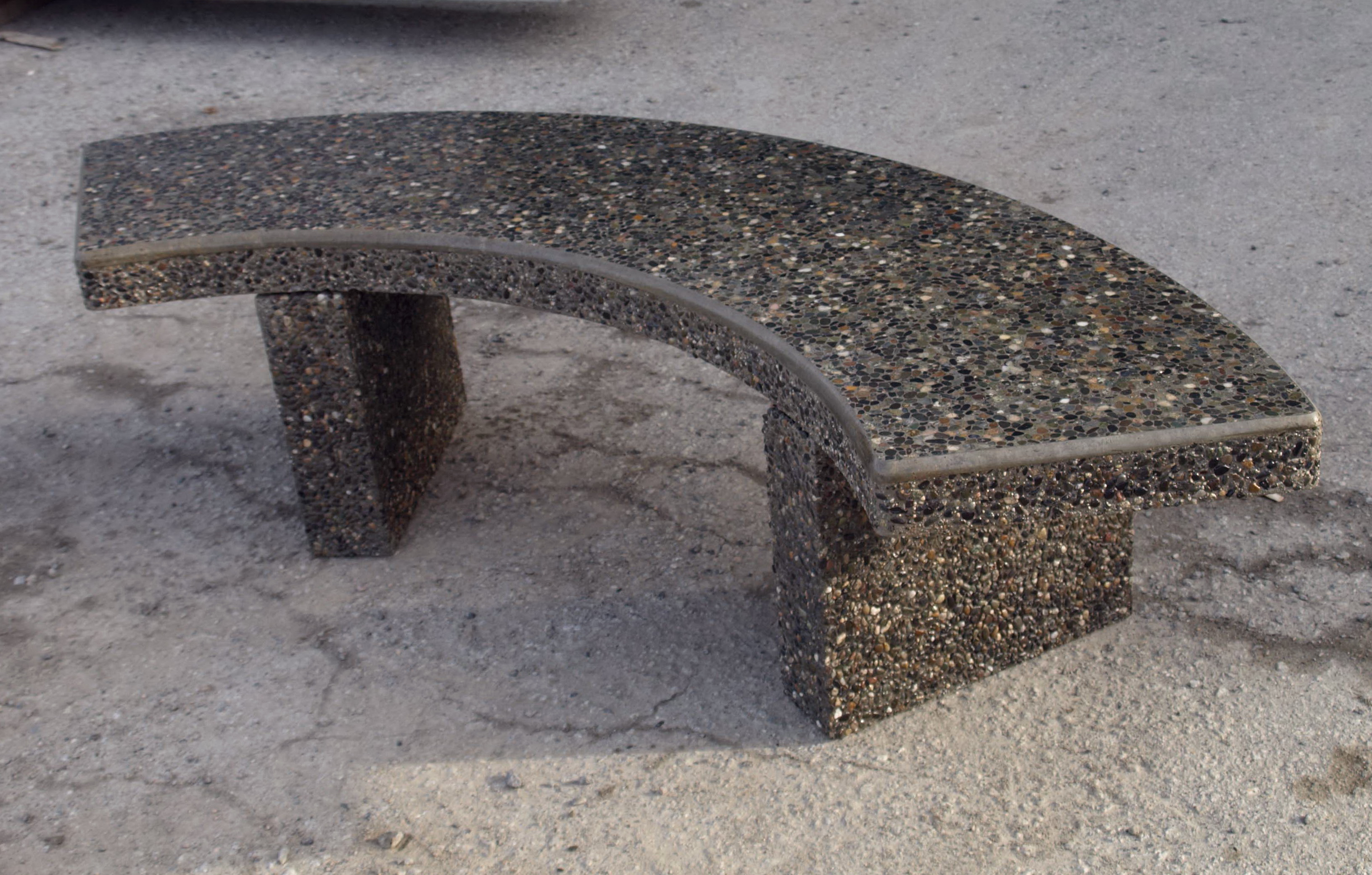 Curved Concrete Garden Bench Home Design Ideas