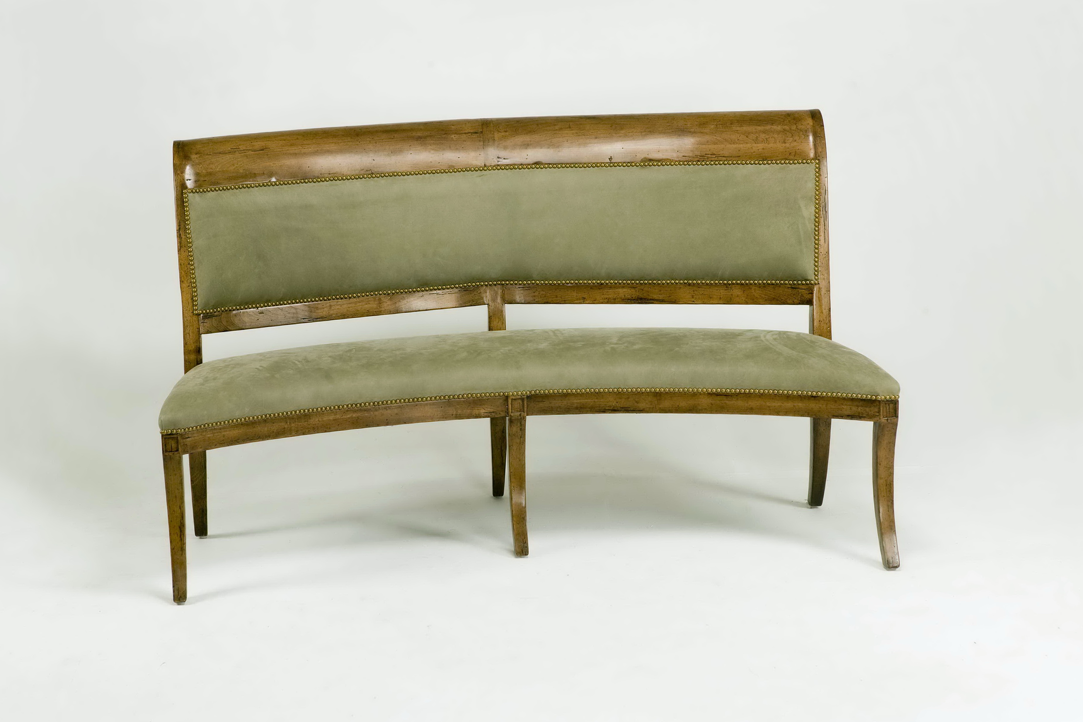 Curved Dining Bench Upholstered Home Design Ideas