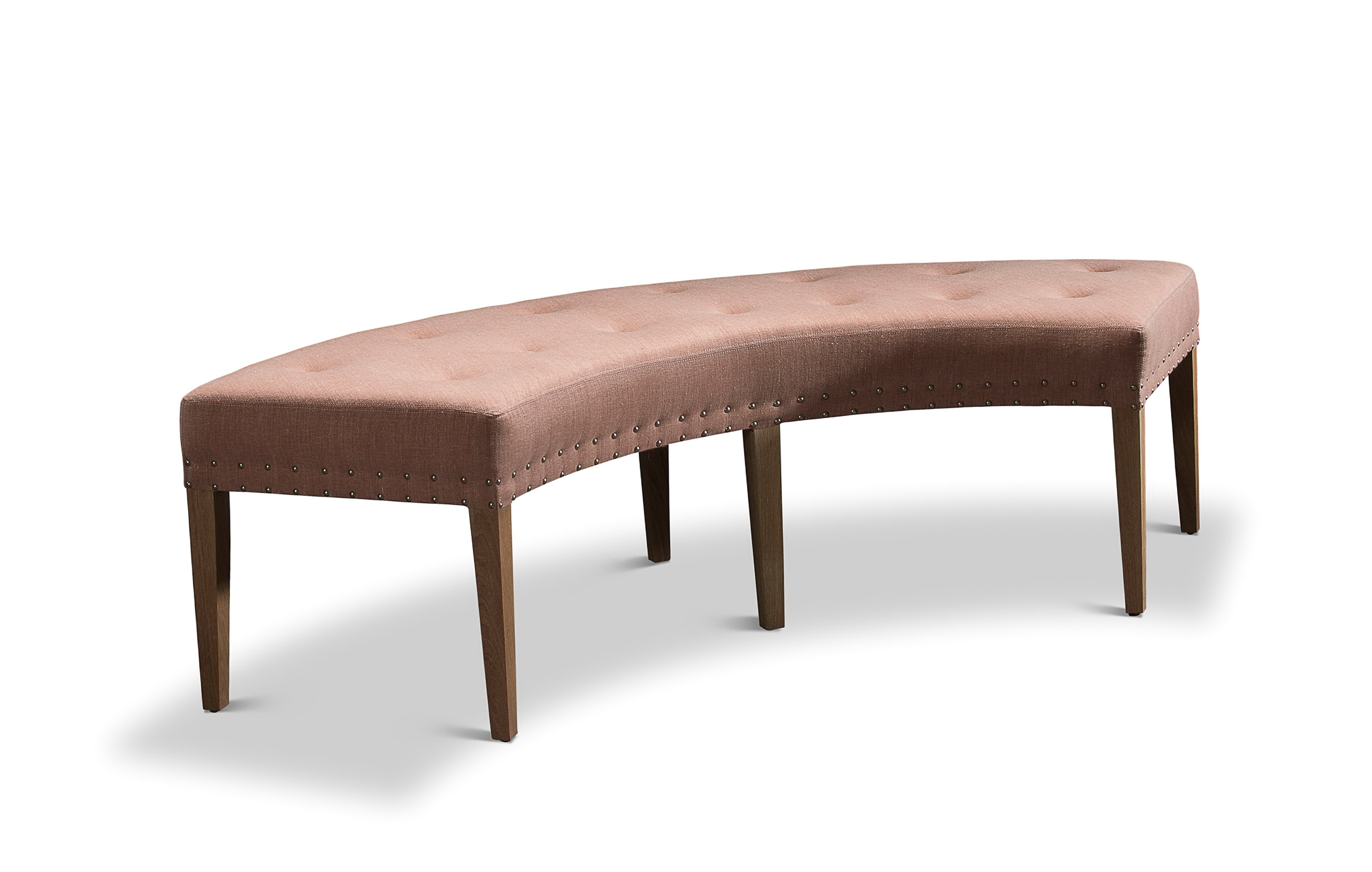 Curved Dining Room Bench