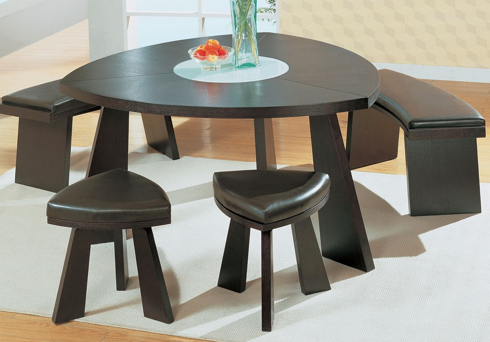 Curved Dining Table Bench Home Design Ideas