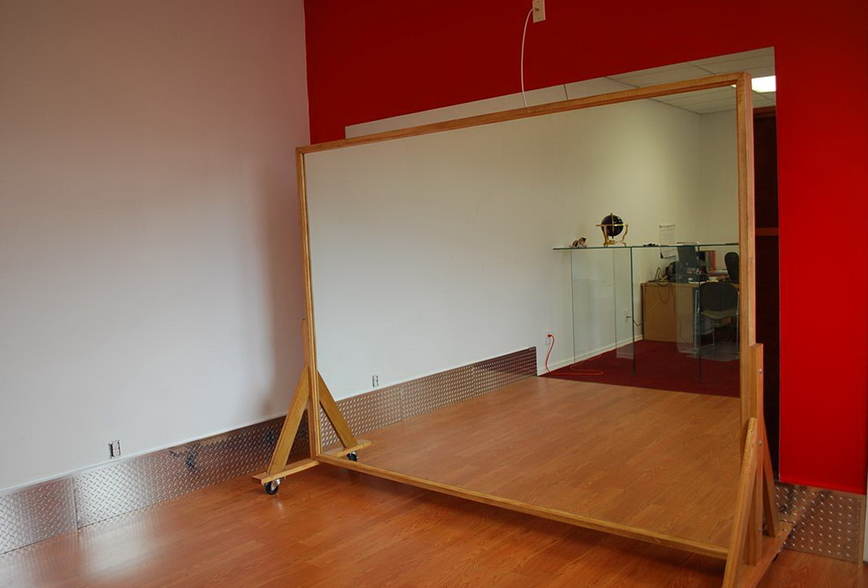 Dance Studio Mirrors On Wheels