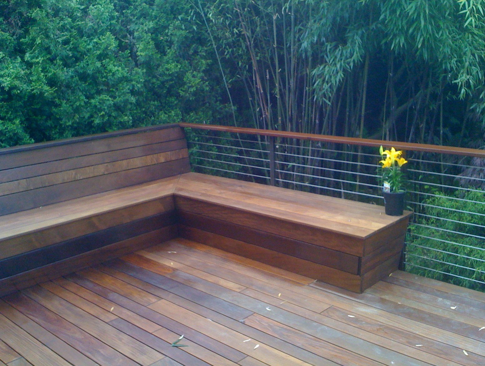 Deck Benches With Backs Home Design Ideas