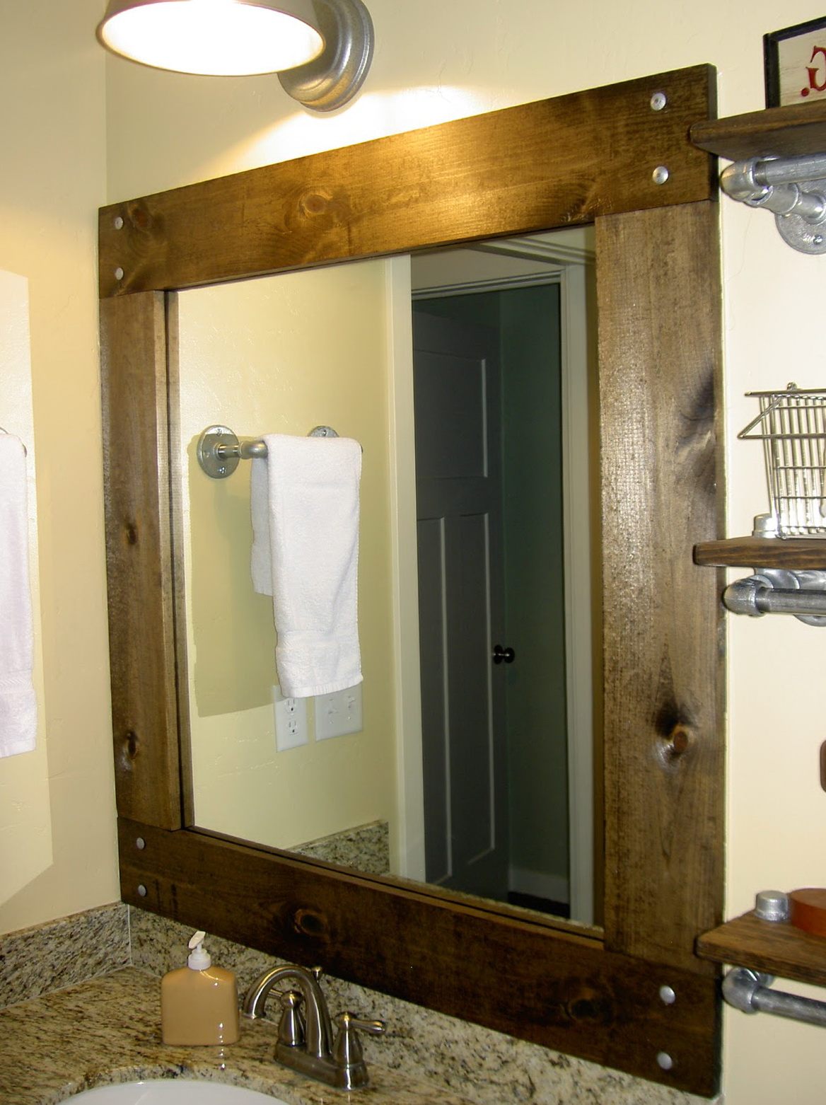 Diy framed mirrors for bathroom home design ideas for How to frame mirror in bathroom