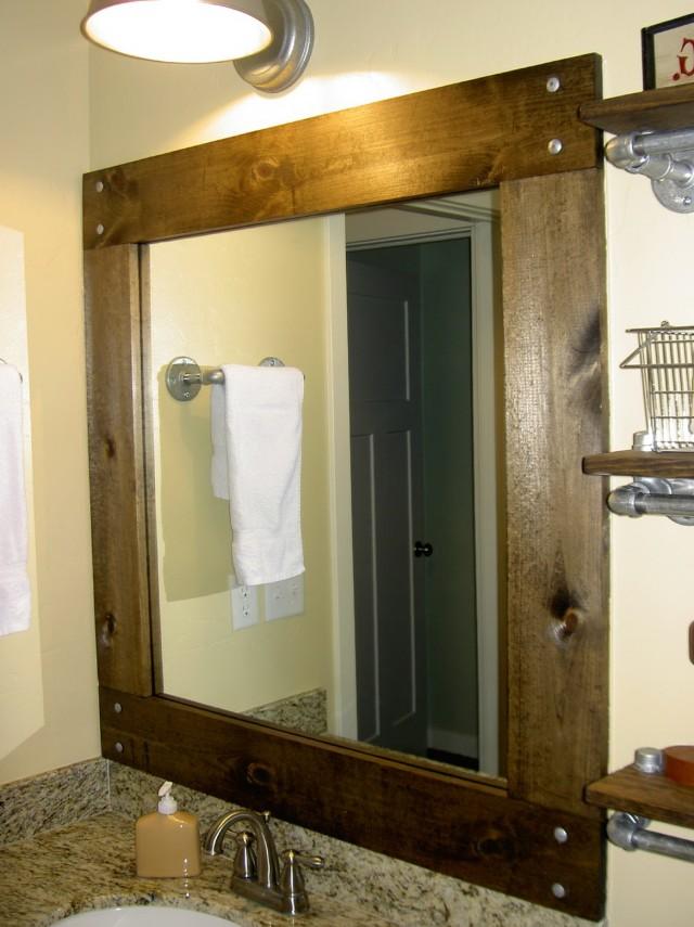 Diy Framing A Bathroom Mirror