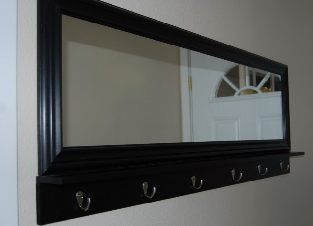 Entryway Mirror With Hooks White