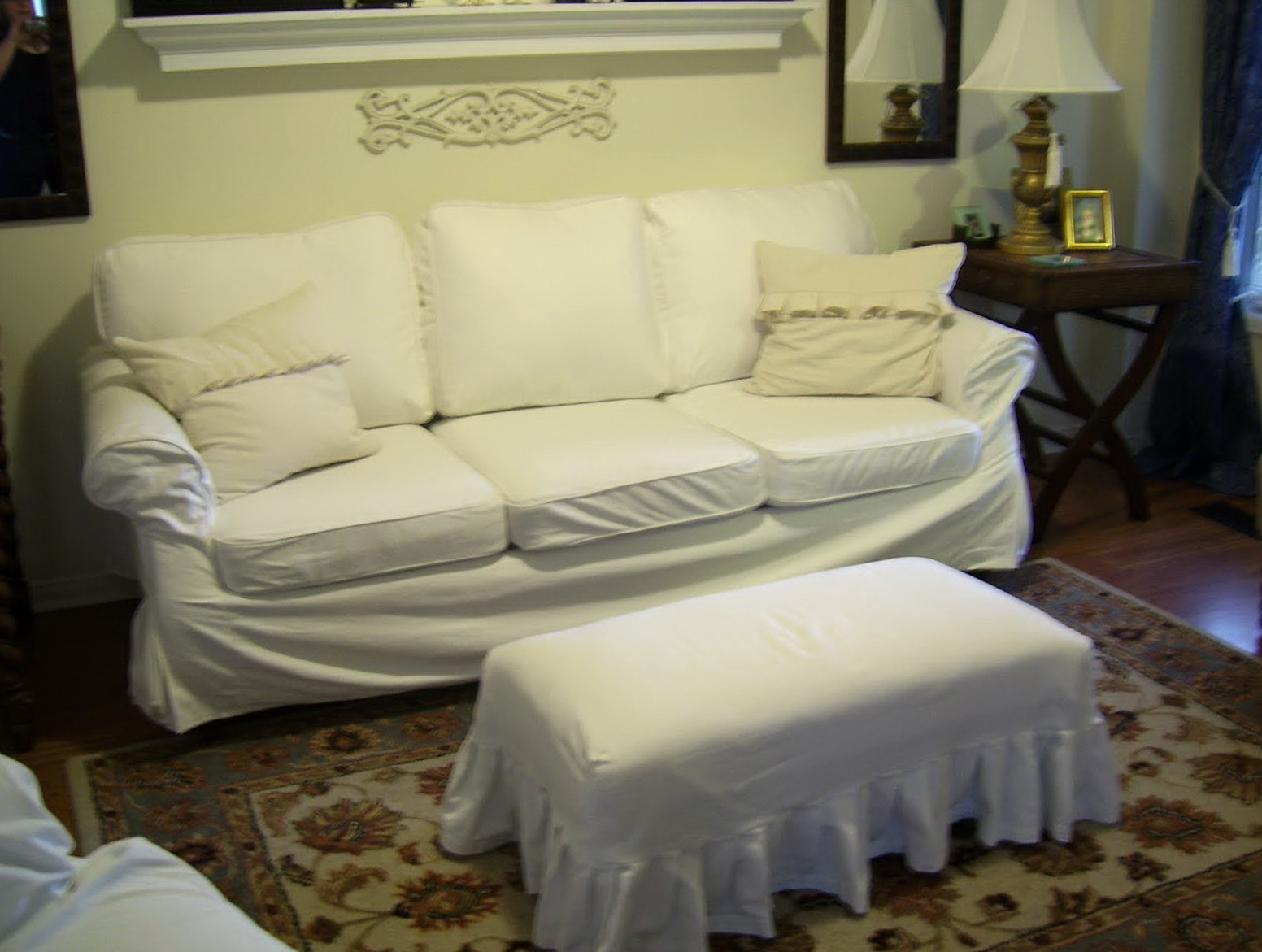 Extra Large Ottoman Slipcovers