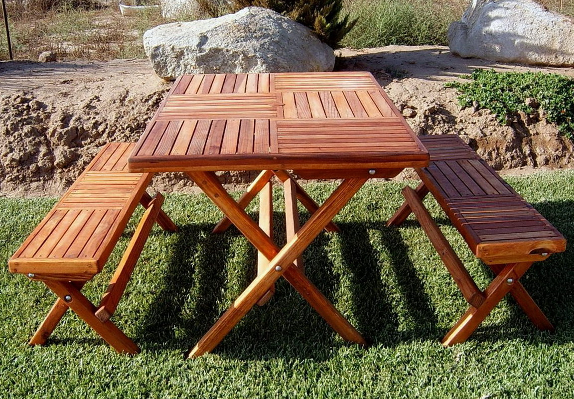Folding picnic table bench free plans home design ideas - Folding picnic table plans free ...