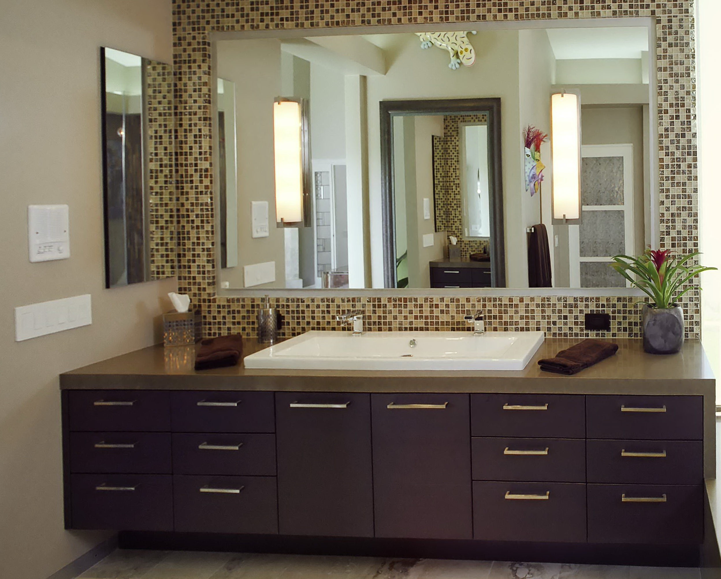 Tile Bathroom Mirror