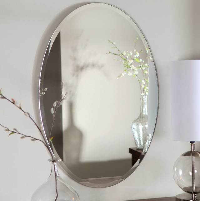 Frameless Bathroom Mirrors Home Depot