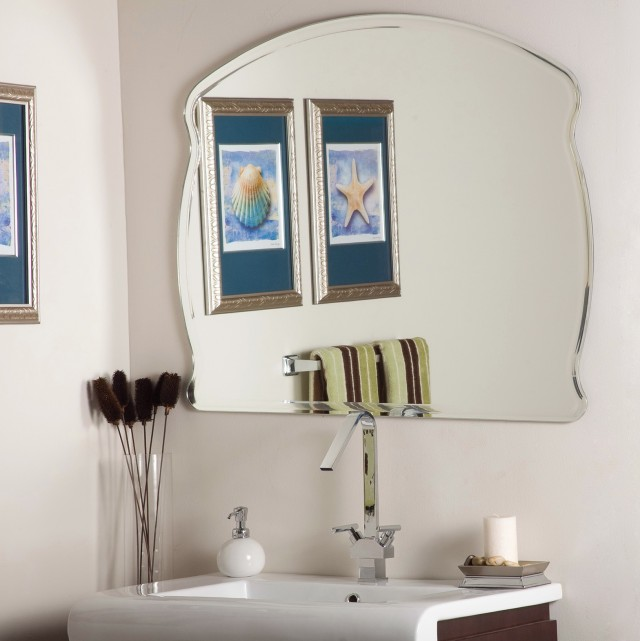 Frameless Wall Mirror Home Depot