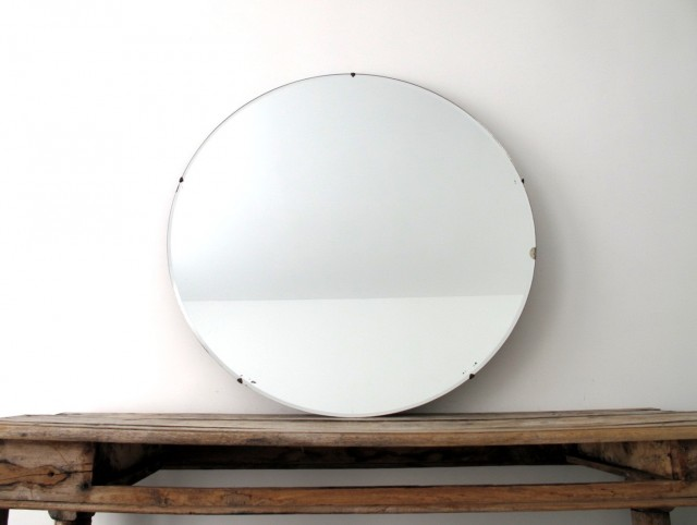 Frameless Wall Mirror Large